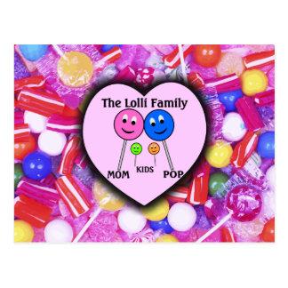 The Lolli Family Postcard