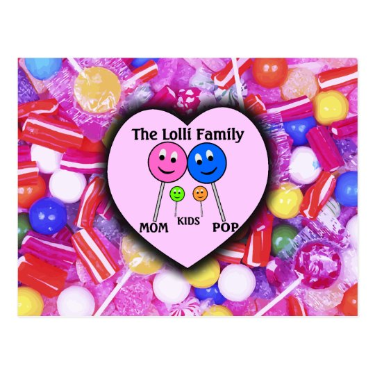 The Lolli Family Postcard