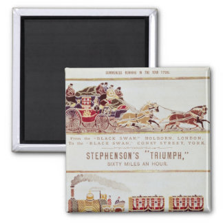 The 'London and York' Royal Mail Coach 2 Inch Square Magnet