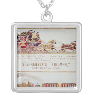 The 'London and York' Royal Mail Coach Silver Plated Necklace