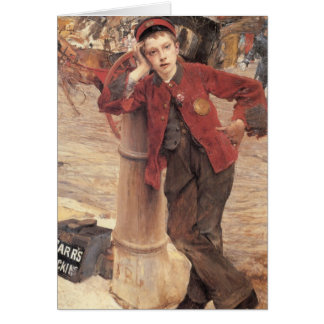 the london bootblack greeting card