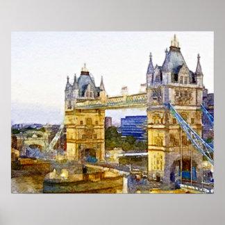 The London Bridge Poster