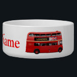 "The London Bus Bowl<br><div class=""desc"">The perfect London souvenir. Red double-decker buses are one of the best known symbols of London,  famous around the world. The featured model is a gorgeous Leyland Titan,  built in the United Kingdom until 1969.</div>"