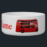 """The London Bus Bowl<br><div class=""""desc"""">The perfect London souvenir. Red double-decker buses are one of the best known symbols of London,  famous around the world. The featured model is a gorgeous Leyland Titan,  built in the United Kingdom until 1969.</div>"""