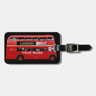 The London Bus Luggage Tag