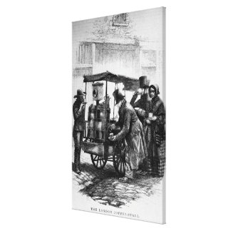 The London Coffee-Stall Canvas Print