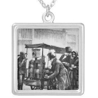The London Coffee-Stall Silver Plated Necklace