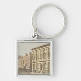 The London Commercial Sale Rooms Silver-Colored Square Keychain