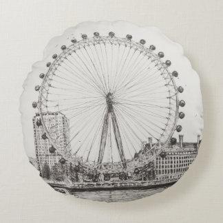 The London Eye 30/10/2006 Round Pillow