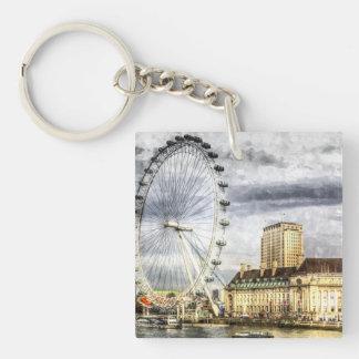 The London Eye Art Keychain
