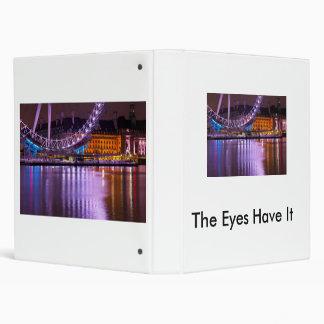 The London Eye at Night 3 Ring Binder
