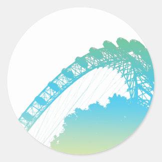 The London Eye in Pastel Sticker