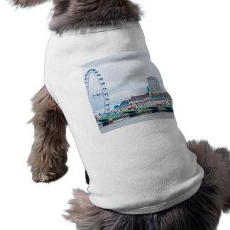 The London Eye on a Sunny Day Dog Tee Shirt