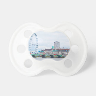 The London Eye on a Sunny Day Pacifier