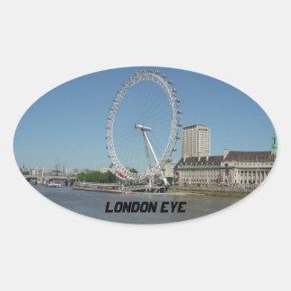 The London Eye Oval Sticker