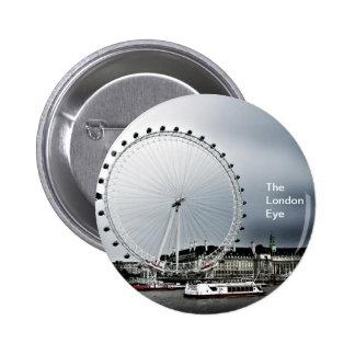 The London Eye Pinback Buttons