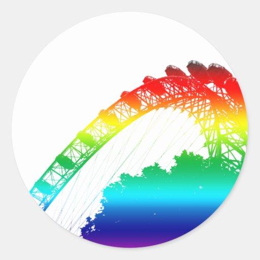 The London Eye Rainbow Sticker
