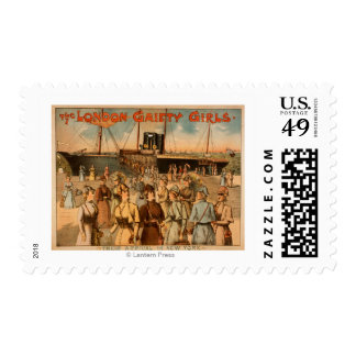 "The London Gaiety Girls ""Arrival to New York"" Postage"