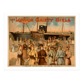 "The London Gaiety Girls ""Arrival to New York"" Postcards"