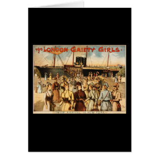 The London gaiety girls Greeting Cards