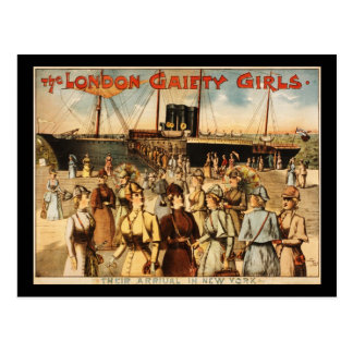 The London gaiety girls Post Card