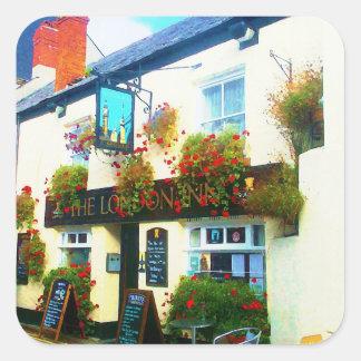The London Inn Padstow Cornwall Watercolour Square Sticker