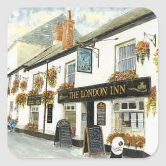 'The London Inn (Padstow)' Square Sticker