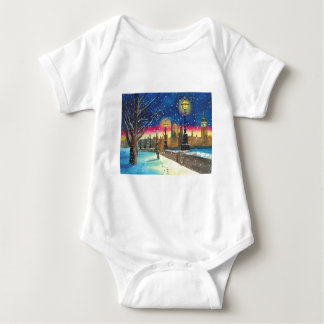 The London lamplighter thames Gordon Bruce art Baby Bodysuit