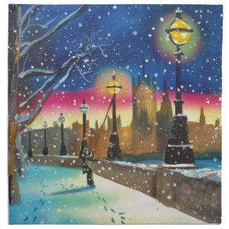 The London lamplighter thames Gordon Bruce art Napkin