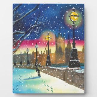 The London lamplighter thames Gordon Bruce art Plaque