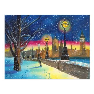 The London lamplighter thames Gordon Bruce art Postcard