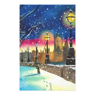 The London lamplighter thames Gordon Bruce art Stationery