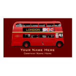 The London Red Bus Double-Sided Standard Business Cards (Pack Of 100)