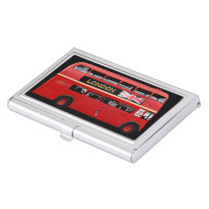 The London Red Bus Business Card Case