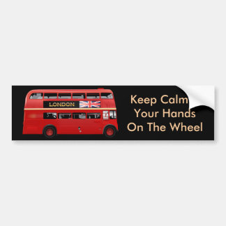 The London Red Bus Car Bumper Sticker