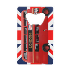 The London Red Bus Credit Card Bottle Opener