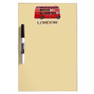 The London Red Bus Dry-Erase Whiteboards