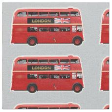 The London Red Bus Fabric