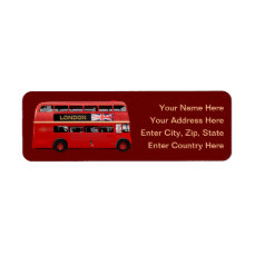 The London Red Bus Label