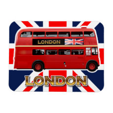 The London Red Bus Magnet