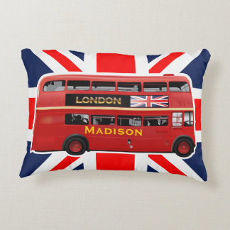 The London Red Bus Accent Pillow