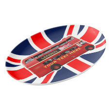 The London Red Bus Porcelain Serving Platter