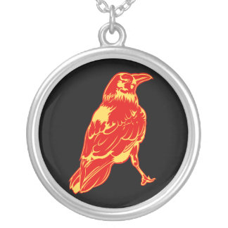 The Lone Crow Round Pendant Necklace