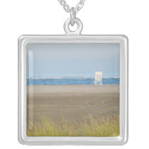 The Lone Lifeguard Silver Plated Necklace
