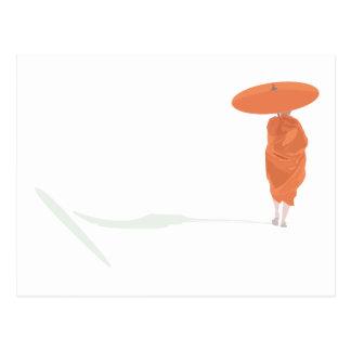 The lone monk postcard
