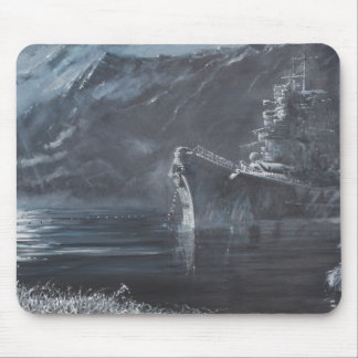 The Lone Queen Of The North Tirpitz Norway1944 Mouse Pad