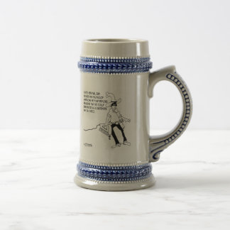 The Lone Ranger As A Carpenter Beer Stein