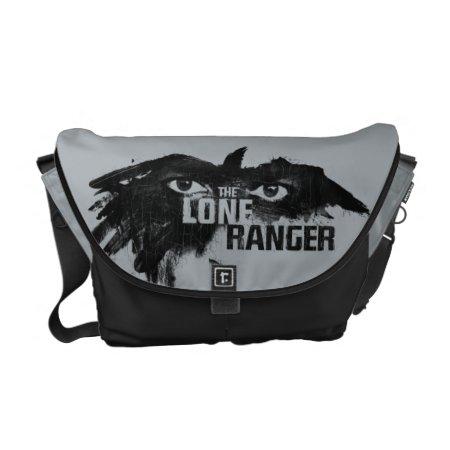 The Lone Ranger Logo With Mask Messenger Bag