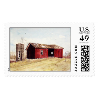 The Lone Red Farm Shed- stamps