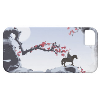 The Lone Rider Cold - Winter Mountain Peaks #2 iPhone SE/5/5s Case